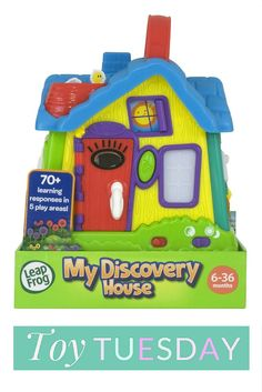 A must have toy for young toddlers. See our video review of the LeapFrog My Discovery House