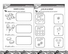 Educando con amor: Matemática-recursos- Mi libro y yo 1 Learning Spanish, Teaching, Education, Math, Carolina Cruz, Montessori, Google, Writing Activities, Preschool Math Activities