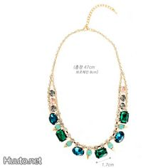 Green Stones Necklace $20 + worldwide shipping #summer #spring #accessory #fashion #statement #jewelry