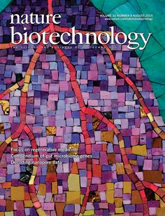 My Life as a Hill by Pamela Goode, Cover of Nature Biotechnology, August 2014