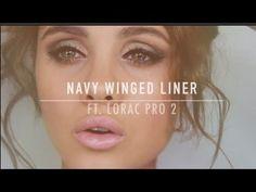 Navy Winged Liner   Lorac Pro 2 Tutorial - #eyemakeup #eyeliner #eyes #makeup #loracpro2 #navywingedliner #danamarie