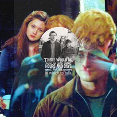 'He spotted Ginny two tables away, she was sitting with her head on her mother's shoulder: There would be time to talk later, hours and days and maybe years in which to talk'