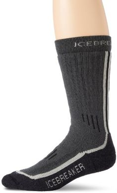 Icebreaker Men's Mountaineerid Calf Socks (Oil/Silver/Jet, X-Large) * Read more reviews of the product by visiting the link on the image.