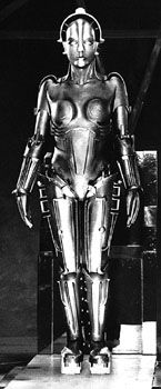 """Maria from Fritz Lang's Metropolis"" -- the author of this site calls her Maria, but I understood her name to be Hel."