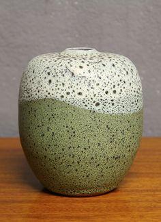 Siegfried Gramann; Glazed Ceramic Vase for Töpferhof Römhild, c1950.
