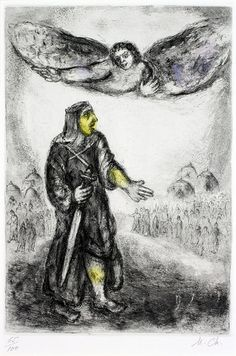 Marc Chagall, Joshua Before Jericho   by Haggerty Museum