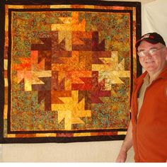 quilt pattern leaves | wall hanging that features an intricate-looking tessellated pattern ...