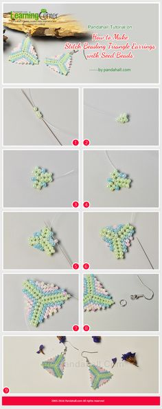 Pandahall Tutorial on How to Make Stitch Beading Triangle Earrings with Seed Beads from LC.Pandahall.com