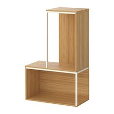 IKEA PS 2014 Storage combination with top, bamboo, white bamboo/white 13 3/4/23 5/8x13 3/4/37 3/8