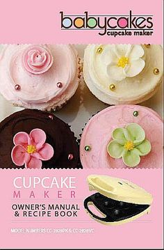 Bakes 8 Mini Cupcakes in minutes. Includes recipe book, decorating tips, piping bag and crust forming tool. Baby Cakes Maker, Cake Pop Maker, Cake Makers, Babycakes Cupcake Maker, Babycakes Recipes, Baby Cupcake, Cupcake Cakes, Cupcakes, Moist Banana Muffins