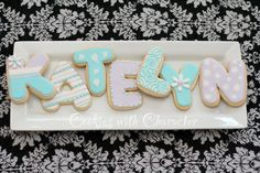 Letter cookies by Cookies with Character