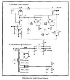 Однотактный ламповый усилитель из доступных деталей 6Н9С+6ПЗС Valve Amplifier, Electronic Schematics, Audio, Vacuum Tube, Electronics Projects, How To Plan, Awesome, Electronic Circuit, Circuits