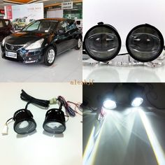 109.99$  Buy here - http://alilp5.shopchina.info/1/go.php?t=32815986373 - July King 1600LM 24W 6000K LED Light Guide Q5 Lens Fog Lamp +1000LM 14W Day Running Lights DRL Case for Nissan Tiida C11X SC11X  #magazineonlinewebsite