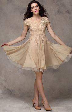 Hot Fashion Ladies Dresses Short Sleeve Slim Fit Lace Chiffon Dress Ball Gown Evening Party Short mini Dress