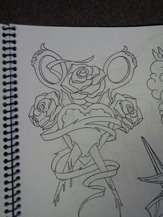 Tattoo Idea Scissors Roses Heart Consider This One Drawing S