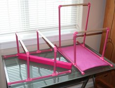Fits American Girl Doll Gymnastics Set with Hand Grips Beam Bars Mat Etc | eBay
