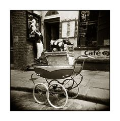 Old Pram Temple Bar Dublin by Monosnaps Old Photographs, Old Photos, Vintage Family Photos, Irish People, Temple Bar, Dublin, Baby Strollers, Ireland, Vintage Outfits