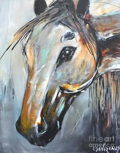 Abstract Horse Painting by Cher Devereaux