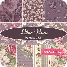 Lilac Ruru Fat Quarter BundleQuilt Gate Fabrics - Ruru Collection - Odds & Ends | Fat Quarter Shop