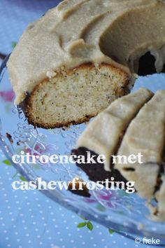 CAKE - Citroencake met cashewfrosting - Fiekefatjerietjes