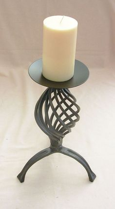 WROUGHT IRON CANDLE STICK HAND MADE in Home, Furniture & DIY, Home Decor, Candle & Tea Light Holders | eBay