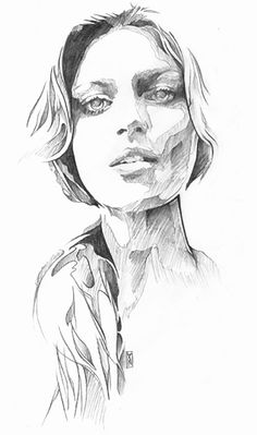 Danny O'Connor, female portrait sketch, 2012