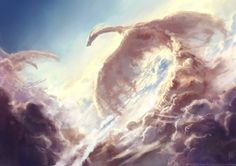 Watch out for those dragons in the sky! Superb by Giulia Valentini : Watch out for those dragons in the sky! Superb by Giulia Valentini Fantasy World, Fantasy Art, Dark Fantasy, Magical Creatures, Fantasy Creatures, Dragon Artwork, Legends And Myths, Cloud Art, Dragon Pictures