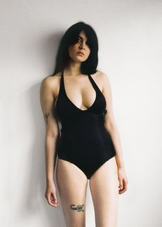 Edith Swimsuit Shiny Black