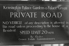 The sign for Kensington Palace Gardens