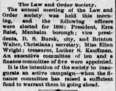 Genealogical Gems: On This Day: Christiana man elected vp of Law & Or...