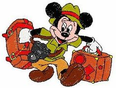 Mickey Mouse design - Number 124 - B   Dreams Embroidery Designs