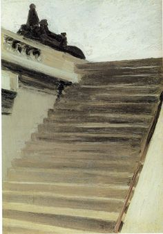 Edward Hopper. Steps in Paris. 1906. Oil on canvas. Whitney Museum of American Art, New York, USA.