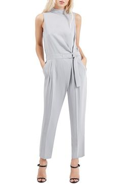 b952acf82c43 Topshop High Neck Belted Jumpsuit available at  Nordstrom Fashion Tips