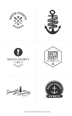 Ocean Inspired Logo Exploratory - Patti Murphy Designs - logo - logo design - branding - logo mark - anchors - sea theme - circle marks - anchor logo