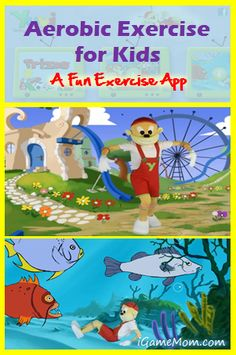 Aerobic Exercise for Kids - a fun kids exercise app with stories. In addition to learning how to exercise and gaining motor skills, kids also learn imagination and creativity.  #kidsapps #SportApps