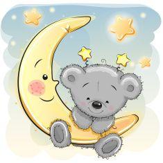 ☆ お月様と星の子坊や☆