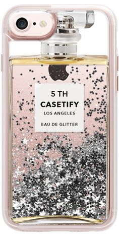 Casetify iPhone 7 Liquid Glitter Case - Miss Perfume Glitter iPhone Case by Marly Joanna