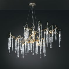 Glamour Oval Chandelier by Serip