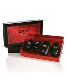 Drakkar Noir by Guy Laroche For Men, Set Of 4 (Eau De Toilette Spray, After Shave Balm, Deodorant Stick and All Over Cleanser) by Drakkar. $78.00. Packaging for this product may vary from that shown in the image above. This item is not for sale in Catalina Island. Launched by the design house of Guy Laroche in 1982, DRAKKAR NOIR for men is classified as a sharp, spicy, lavender, amber fragrance. This masculine scent possesses a blend of lavender, citrus, spicy berries and sa...