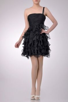 One Shoulder Short Cocktail Dress Price : $209.99 Free Shipping!