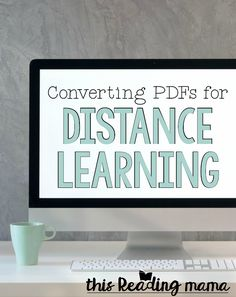 Learn how to convert PDFS for distance learning {with permission from the creator first - Education interests Educational Games For Kids, Educational Technology, Educational Software, Home Learning, Learning Tools, Learning Games, Educational Youtube Channels, Learning Stations, Free Teaching Resources