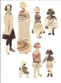 Fashion Link: Templates and paper dolls Collage Kunst, Collage Art, Collage Sheet, Paper Doll Template, Paper Art, Paper Crafts, Cut Paper, Paper Toys, Art Textile