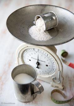 Mittayksiköt ja lyhenteet tl = teelusikka = 5 ml rkl = ruokalusikka = 15 ml = 3 tl mm = maustemitta = 1 ml dl = desilitra = 100 ml = 6,7 rkl l = litra = 1000 ml kkp = kahvikuppi = 1,5 dl g = gramma kg = kilogramma ps = pussi prk […]