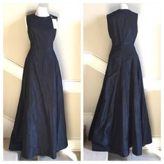 New J. Crew Special Occasions long silk gown 6 New with tags J. Crew Special Occasions floor length 100% silk gown. Color is black.  From the top of shoulder to the floor is 58 inches. Invisible rear zipper.  This gown is simply stunning!!! J. Crew Dresses Maxi