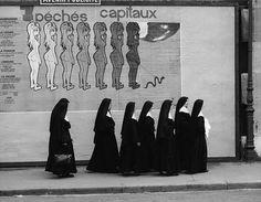 "René Maltête (French photographer - les 7 péchés capitaux // ""The seven deadly sins"" Candid Photography, City Photography, Contrast Photography, Toile Photo, Cool Pictures, Cool Photos, Perfectly Timed Photos, French Photographers, Cultural"