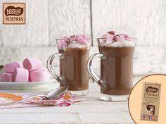 Chocolate caliente con marschmallows