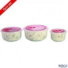 Roxx Brooks Bowls 3 Pcs Storage Set Kitchen Dinning, Buy Kitchen, Kitchen Items, Kitchen Storage Containers, Buy Mobile, Storage Sets, Kitchen Collection, Bowls, Kitchen Appliances