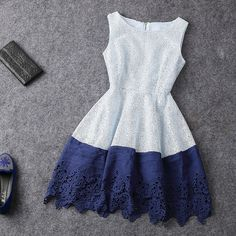Fashion Hit Color Sleeveless Dress