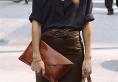 #leather #clutch #belt