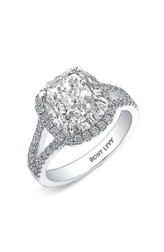 Bony Levy 'Bridal' Diamond Split Shank Semi Mount Ring